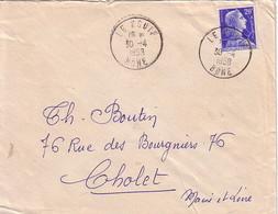 ALGERIE - MARIANNE DE MULLER - LE KOUIF - BONE - ENVELOPPE  POUR LA FRANCE. - Algeria (1924-1962)