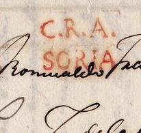 Lettre Espagne 1840 C.R.A SORIA CERVERA DEL RIO ALHAMA Tudela - Spanje