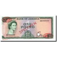 Billet, Jamaica, 1 Pound, 1961, 1961, Specimen TDLR, KM:51, NEUF - Jamaique