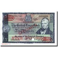 Billet, Scotland, 5 Pounds, 1962-1964, Specimen TDLR, KM:167a, NEUF - Schotland