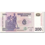 Billet, Congo Democratic Republic, 200 Francs, 2007, 2007-07-31, KM:99a, NEUF - Congo