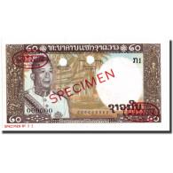 Billet, Lao, 20 Kip, 1963, Specimen TDLR, KM:11s2, NEUF - Laos