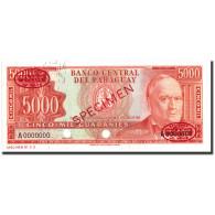 Billet, Paraguay, 5000 Guaranies, 1952, 1952, Specimen TDLR, KM:202s, NEUF - Paraguay