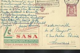 Publibel Obl. N° 707 ( Soieries SASA) Obl.  Bxl: 1947 - Publibels