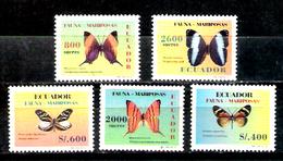 783  Butterflies - Papillons - Equateur 1384-88 MNH - 4,85 (15) - Vlinders