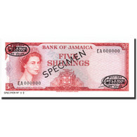 Billet, Jamaica, 5 Shillings, 1964, 1964, KM:51Ad, NEUF - Jamaique