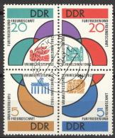 DDR 901/04 Viererblock O Tagesstempel - DDR