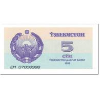 Billet, Uzbekistan, 5 Sum, 1992, Undated (1992), KM:63a, SPL+ - Ouzbékistan