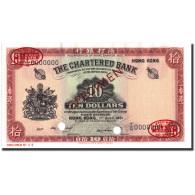 Billet, Hong Kong, 10 Dollars, 1961-07-01, Specimen TDLR, KM:70s - Hong Kong