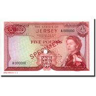 Billet, Jersey, 5 Pounds, 1963, 1963, Specimen TDLR, KM:9s2, NEUF - Jersey