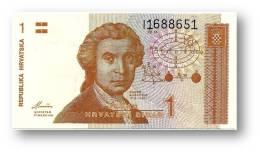 CROATIA - 1 Dinar - 08/10/1991 - P 16 - Unc. - Série I1 - Ruder Boskovic / Zagreb Cathedral - Croácia Croatie Kroatien - Croatie