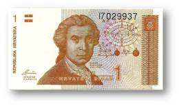CROATIA - 1 Dinar - 08/10/1991 - P 16 - AUnc. - Série I7 - Ruder Boskovic / Zagreb Cathedral - Croácia Croatie Kroatien - Croatie