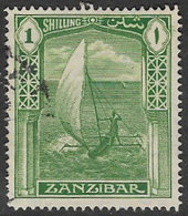 Zanzibar SG318 1936 Definitive 1/- Good/fine Used [37/30882/2D] - Zanzibar (...-1963)