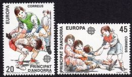 Andorra Spanish 1989 Europa Administration Children's Games Childhood Youth Sports Stamps MNH Scott #200-201 - Childhood & Youth
