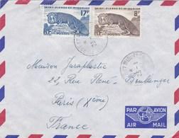ESC De Saint-Pierre Et Miquelon (975) Pour Paris (75) - CAD 23 Janvier 1962 - Timbres YT 345 & 346 - St.Pierre & Miquelon