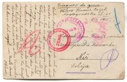 K.u.K. Soldier WW1, Prisoners Camp / Kriegsgefangenen Lager, Censorship NIŠ Serbia, Red Cross, Balkan War 1915. - WW1