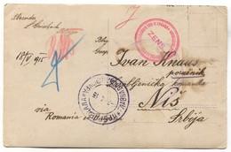 K.u.K. Soldier WW1, Prisoners Camp / Kriegsgefangenen Lager, Censorship NIŠ Serbia, Red Cross, Balkan War 1915. - Guerre Mondiale (Première)