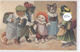 CPA- 32240 -Allemagne ( Illustrateurs) - Erster Schuhlgang Dessin Arthur Thiele ( 2 Scans) - Thiele, Arthur