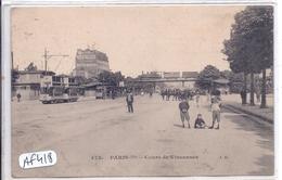 PARIS XII- COURS DE VINCENNES- LE TRAMWAY - Arrondissement: 12
