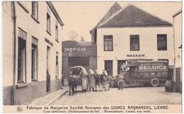 Lier Lierre Binnenplaats Lossen Van Melk Cour Fabrique De Margarine Usines Raymakers Reclame Publicite Pub - Lier
