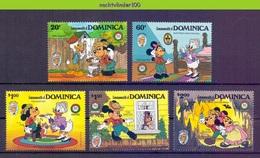 Nct210 WALT DISNEY VLEERMUIS KAT CAT BAT FLUGHUND KATZE CHAUVE-SOURIS TWAIN DOMINICA 1985 PF/MNH - Disney