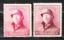 177/78*  Roi Albert Casqué - 2 Bonnes Valeurs - MH* - LOOK!!!! - 1919-1920 Trench Helmet