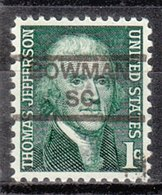 USA Precancel Vorausentwertung Preo, Locals South Carolina, Bowman 852 - United States