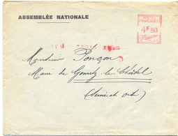 EMA ASSEMBLÉE NATIONALE  13 V 47 =  PARIS-31 =  Au Verso Xx  Cachet Maire De Limours SEINE-ET-OISE - EMA (Printer Machine)