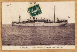 Nw2944 PAUILLAC Paquebot EUROPE Des Chargeurs Réunis Cpbat 1912 Sergent LAVEZE Tchad - BR-412 N°19 - Pauillac