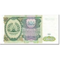 Billet, Tajikistan, 200 Rubles, 1994, Undated (1994), KM:7a, NEUF - Tajikistan