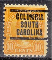 USA Precancel Vorausentwertung Preo, Locals South Carolina, Columbia 642-207 - Vorausentwertungen