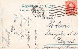 MAY 13 1924  Flier Cancel On PC From HABANA,CUBA To Zagreb Jugoslavia - Cuba