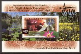 1997 - Australian Nature Of Australia WETLANDS Minisheet Minature Sheet Stamps MNH Overprinted ITALIA - Blocks & Sheetlets