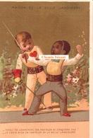 Chromo  BELLE JARDINIERE - Humour : Escrime... - Scans Recto-verso - Autres