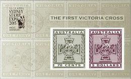 2015 - Australian THE FIRST VICTORIA CROSS Minisheet Minature Sheet Stamps MNH Overprinted SYDNEY - Blocks & Sheetlets