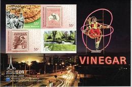 2009 - Australian VINEGAR MELBOURNE Minisheet Minature Sheet Stamps MNH - Blocks & Sheetlets