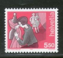 Switzerland 1989 Industry Dressmaker Fashion Design Sc 849 MNH # 134 - Textile