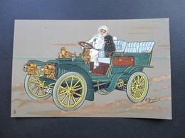 AK / Künstlerkarte T.Bianco Oldtimer Ca. 1910er Jahre! Raphael Tuck Serie 760 Edtiteurs Paris. Chicoree Arlatte - PKW