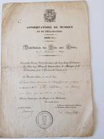 Conservatoire De Musique Et De Declamation 1839 - Diplomas Y Calificaciones Escolares