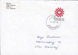 Denmark FYNS POSTCENTER 1997 Cover Brief BRØNSHØJ Denmark AIDS Stamp - Dänemark