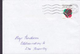 Denmark NORDSJÆLLANDS POSTCENTER 1994 Cover Brief BRØNSHØJ Denmark KFUM (YMCA) Social Work Stamp - Dänemark