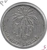 *Belgian Congo 1 Franc  1922 French  Km 20  Vf - 1910-1934: Albert I