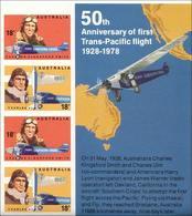 1978 - Australian AVIATORS Minisheet Minature Sheet MNH - Blocks & Sheetlets