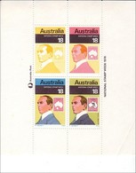 1976 - Australian NATIONAL STAMP WEEK Minisheet Minature Sheet MNH - Blocks & Sheetlets
