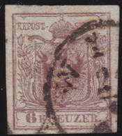 Oostenrijk      .    Yvert   .    4b   .    Ribbed Paper      .     O     .  Gebruikt    .     /    .    Cancelled - 1850-1918 Keizerrijk