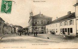CPA - GRANGES (88) - Aspect De La Place De L'Hôtel De Ville Au Début Du Siècle - Granges Sur Vologne