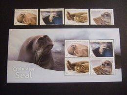 AAT 2018 CRABAETER SEALS. STAMPS + SHEETLET. MNH ** (022804/850) - Ongebruikt