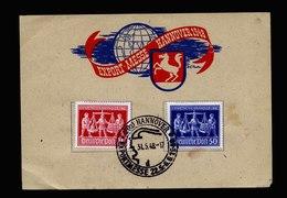 A5489) Kontrollrat Sonderblatt Hannovermesse 1948 - Gemeinschaftsausgaben