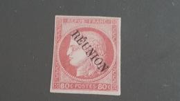LOT 400163 TIMBRE DE COLONIE REUNION NEUF* N°12 VALEUR 100 EUROS SIGNE BRUN - Réunion (1852-1975)