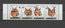 Somalia 1998 Big Cats, Caracal, WWF Set Of 4 MNH - Roofkatten